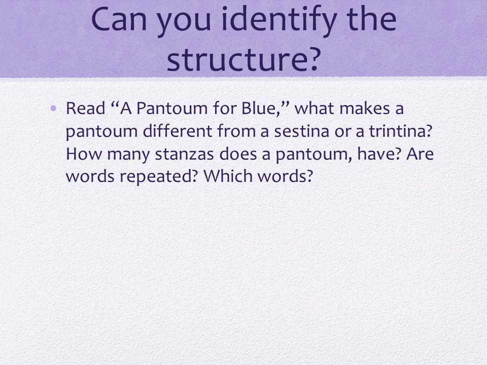 pantoum structure