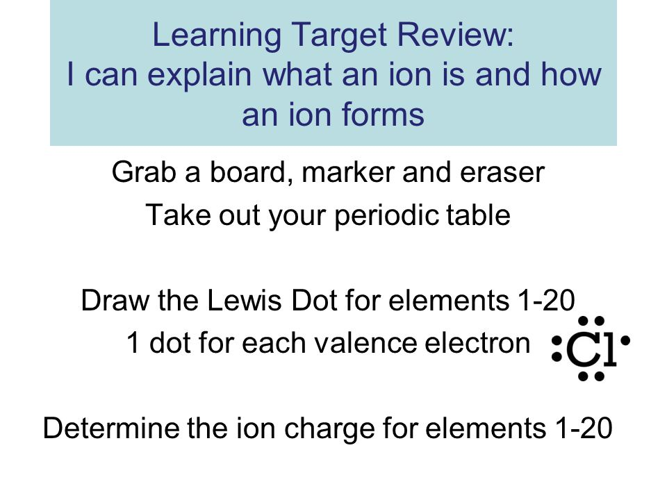 Grab A Board Marker And Eraser Take Out Your Periodic Table Ppt