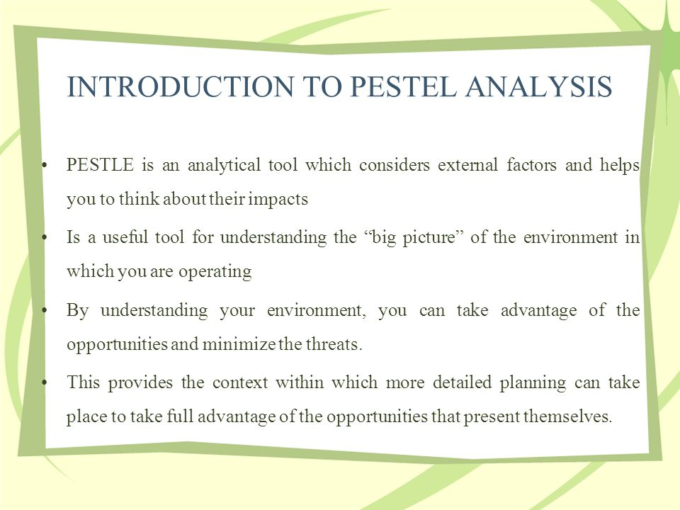 pestle analysis of real estate industry