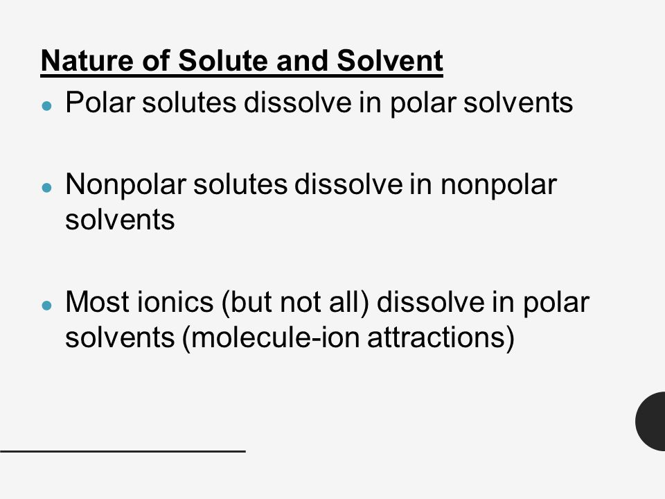Image Result For When Pcl Is Dissolved In A Polar Solvent