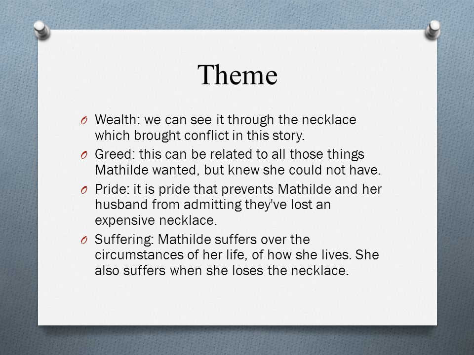 analysis on guy de maupassants the necklace essay The necklace study guide contains a biography of guy de maupassant, literature essays, quiz questions, major themes, characters, and a full summary and analysis about the necklace the necklace summary.