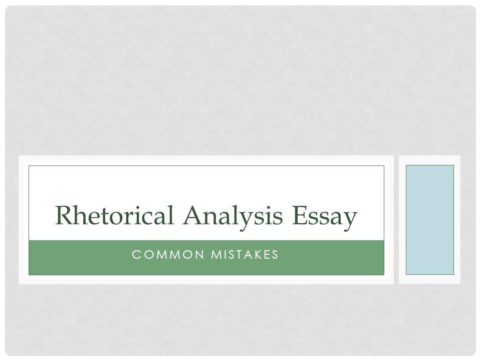 Rhetorical Analysis Essay Ppt Download