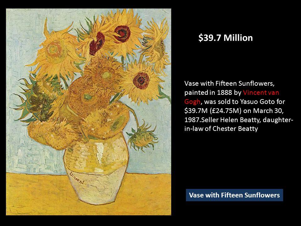 Vincent Van Gogh Sunflowers Painting Value Flowers Healthy