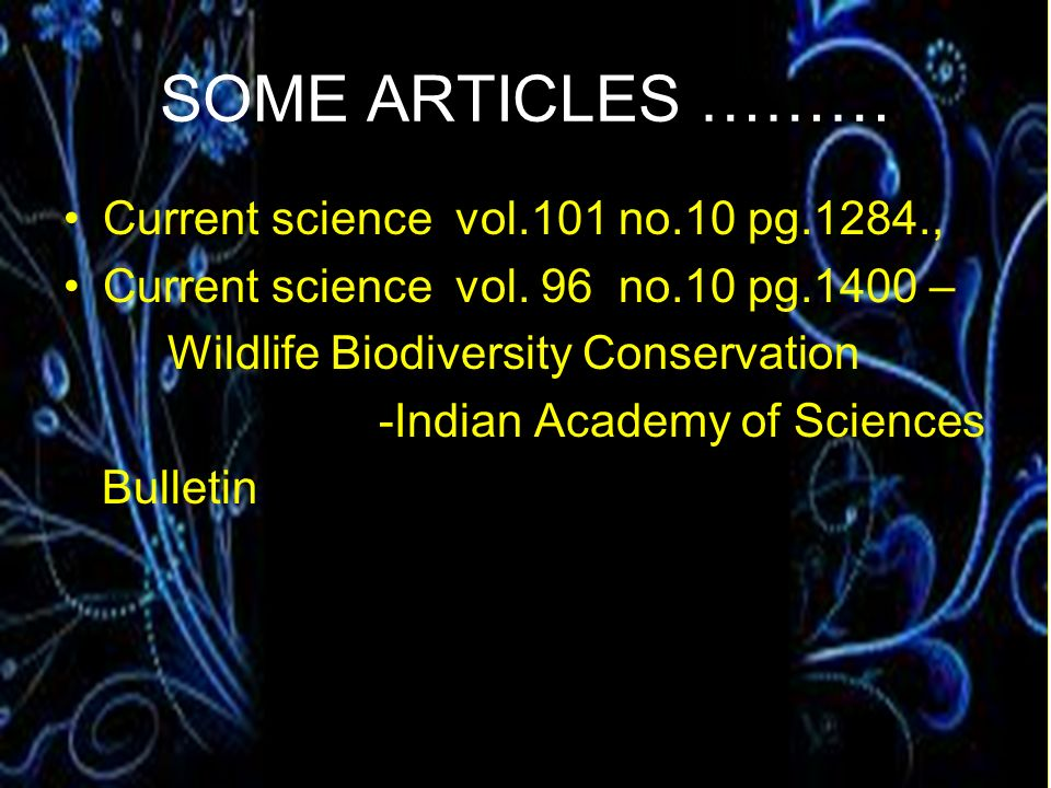 SOME ARTICLES ……… Current science vol.101 no.10 pg.1284.,