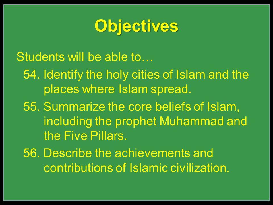 Agenda Kahoot Warm Up The Expansion Of Islam Five Pillar Foldable