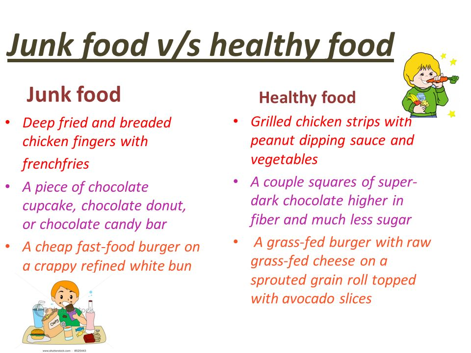 Healthy Food And Junk Food Ppt