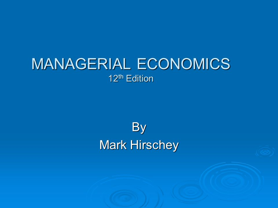 entire course managerial economics essay Open document below is an essay on bus 640 entire class / managerial economics / new from anti essays, your source for research papers, essays, and term paper examples.