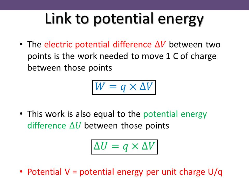 18 Link To Potential Energy