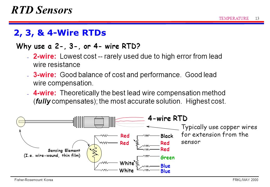rtd temperature probe wiring block and schematic diagrams \u2022 4 wire rtd cable rtd sensor temperature ppt video online download rh slideplayer com rtd pt100 temperature sensor wiring 4