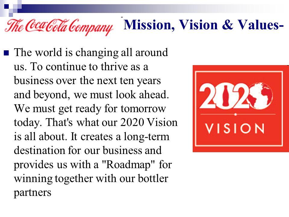 coca cola company mission and vision