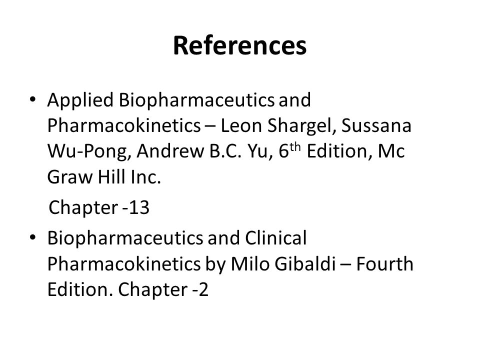 Pdf 6th biopharmaceutics applied pharmacokinetics and