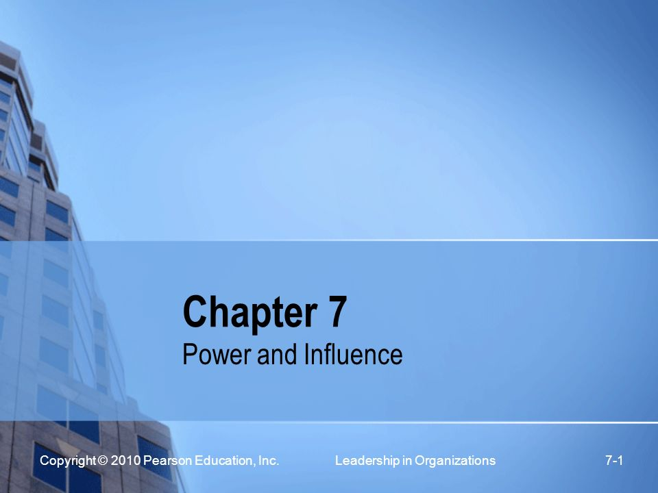 power and influence in organizations pdf