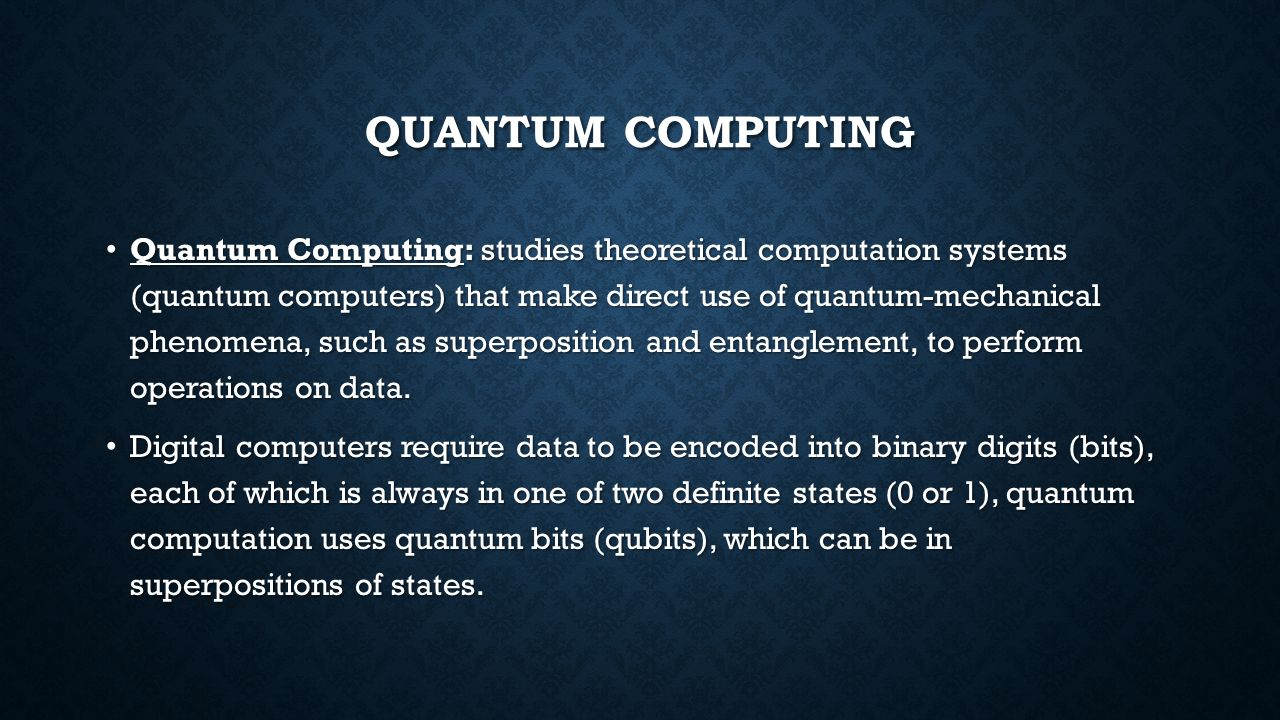 Quantum Computing An Introduction   ppt video online download