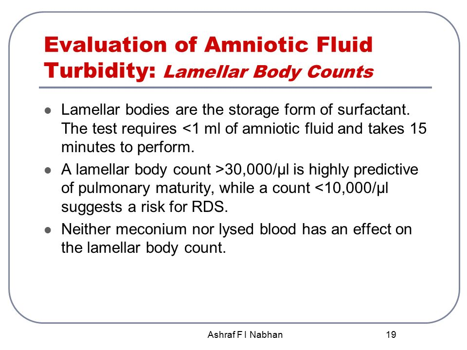 Lamellar body count fetal lung maturity