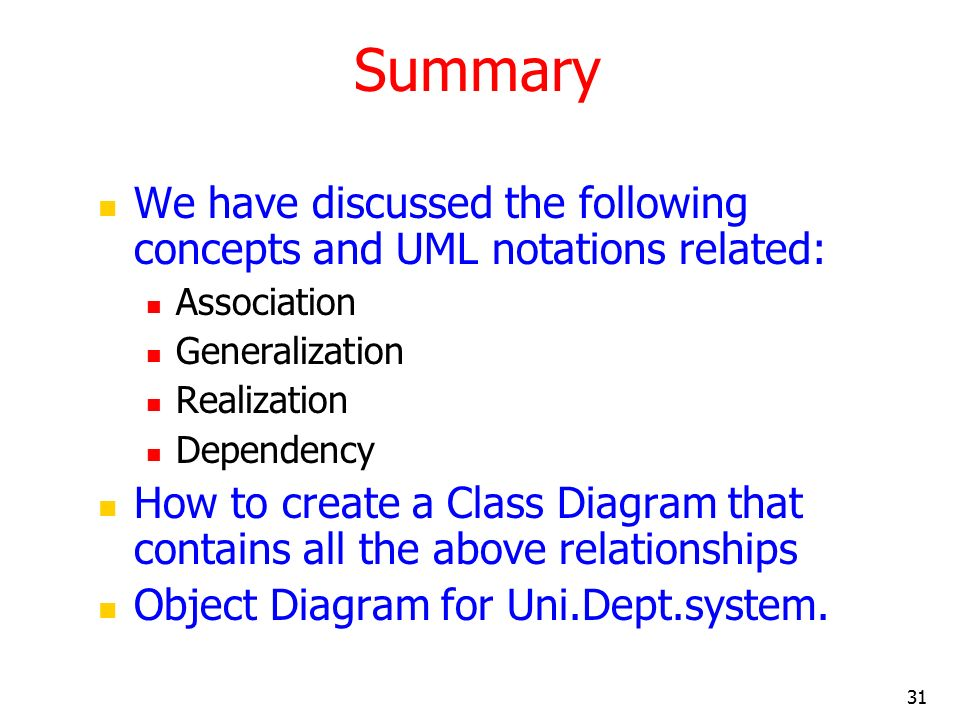 Uml And Classes Objects And Relationships 2 Ppt Video Online