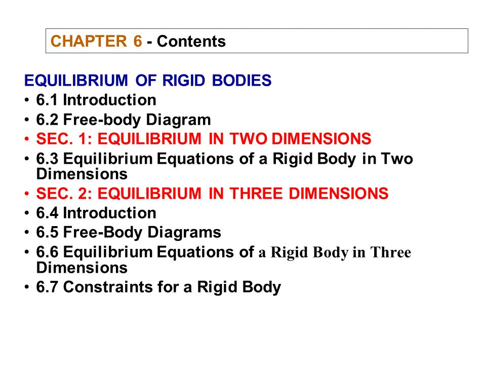 Equilibrium of rigid bodies ppt video online download chapter 6 contents equilibrium of rigid bodies 61 introduction 62 free body ccuart Gallery