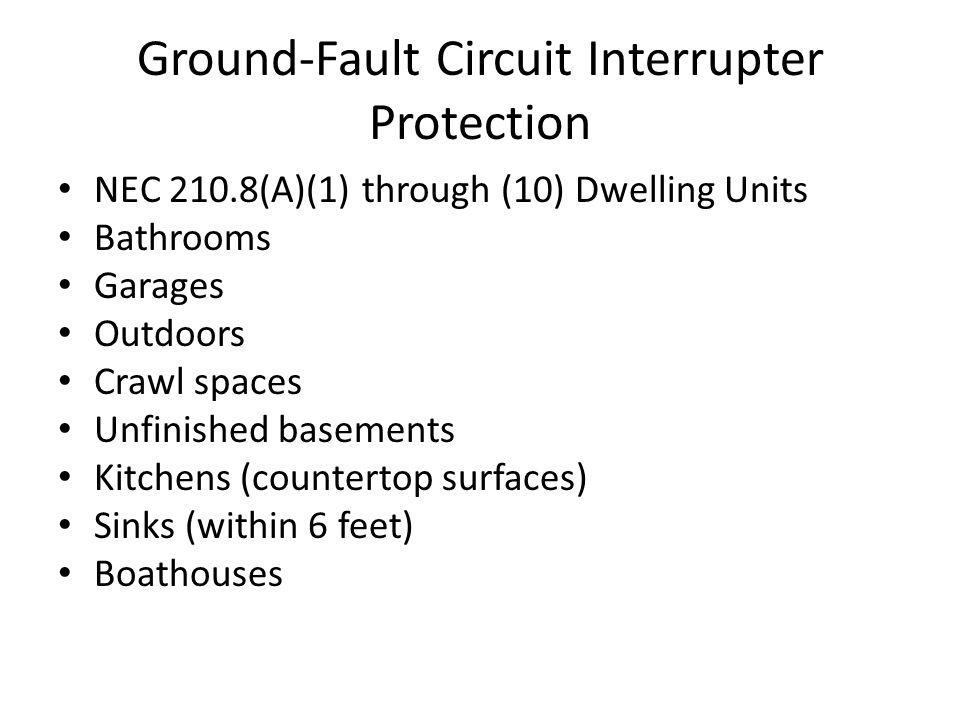 Ground-Fault Circuit Interrupter Protection