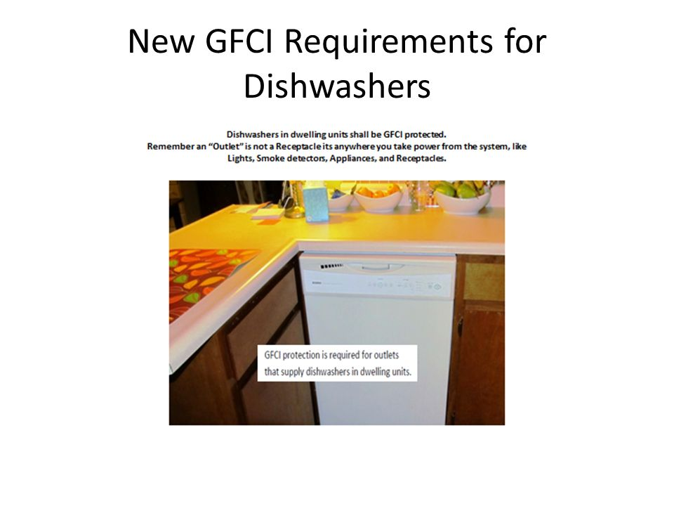 New GFCI Requirements for Dishwashers