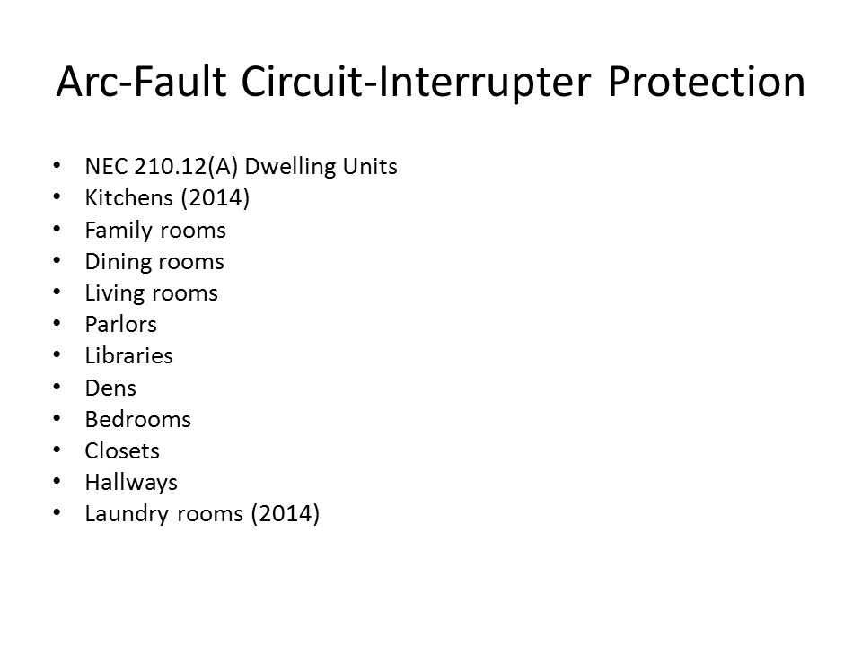 Arc-Fault Circuit-Interrupter Protection