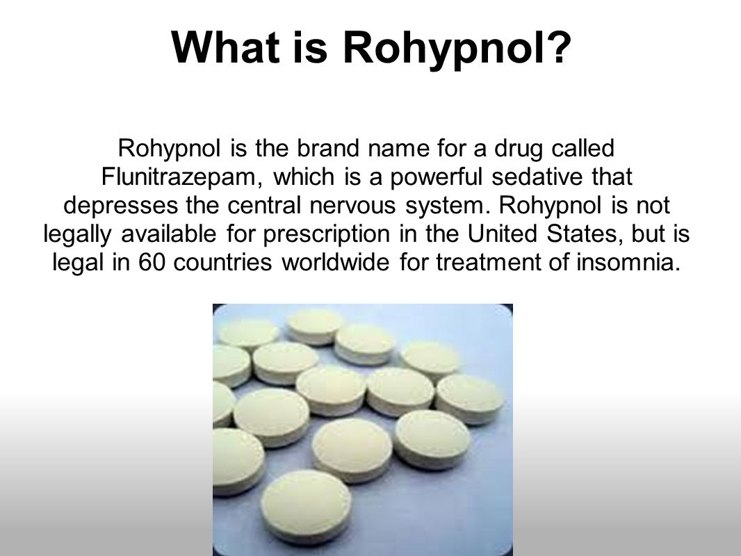 How to make rohypnols at home