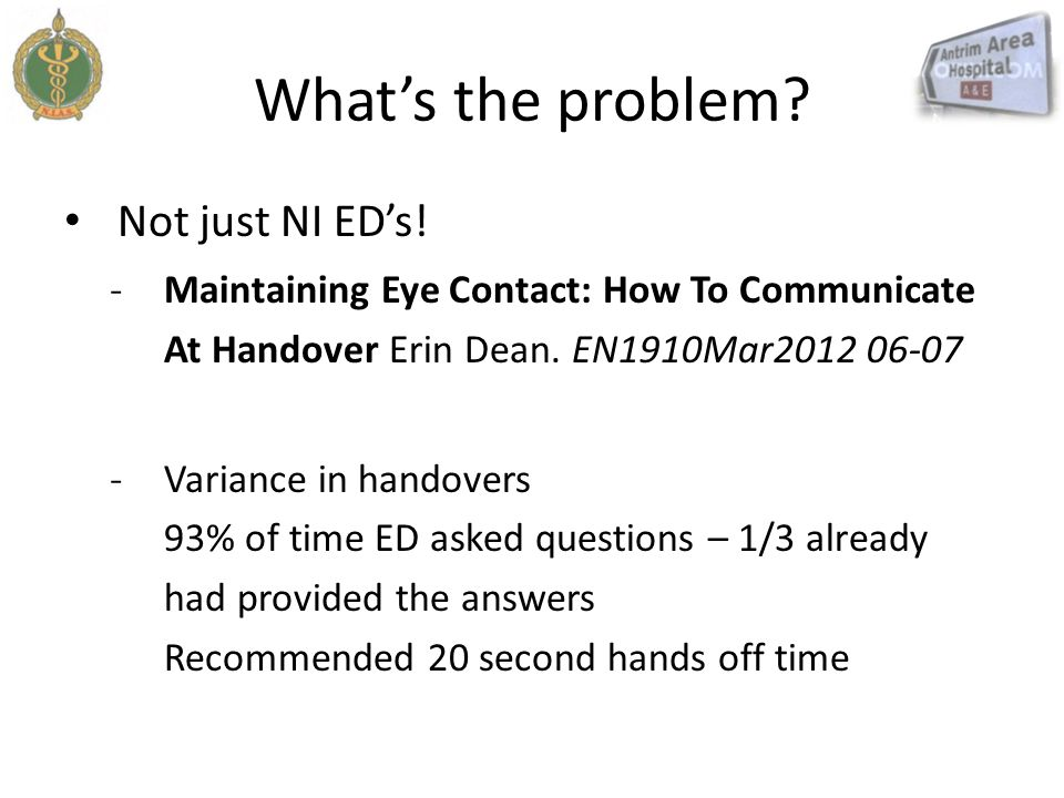 What's the problem Not just NI ED's!