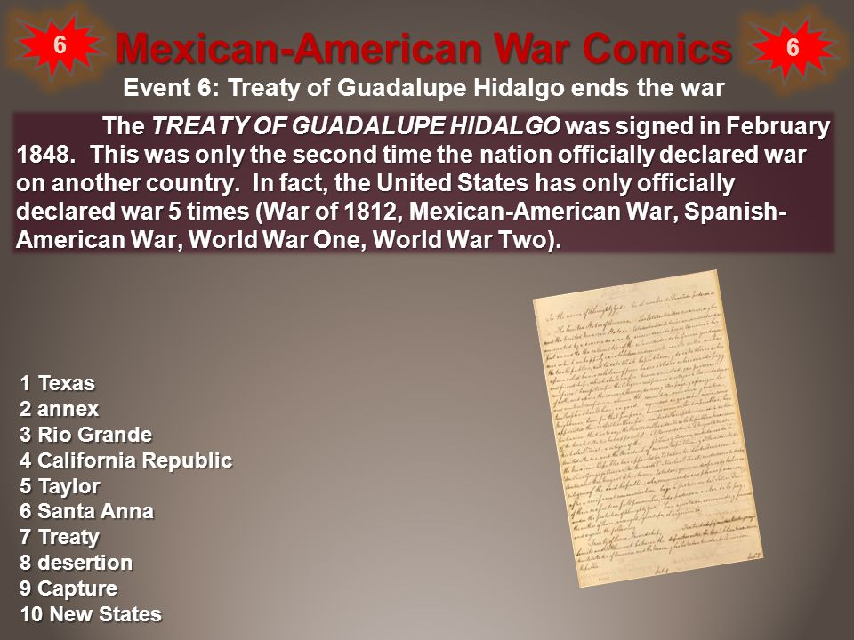 what event led to the mexican american war