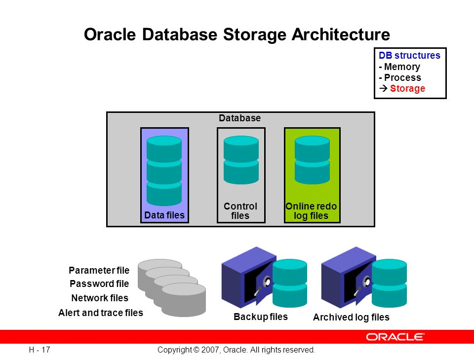 Oracle Database Storage Architecture