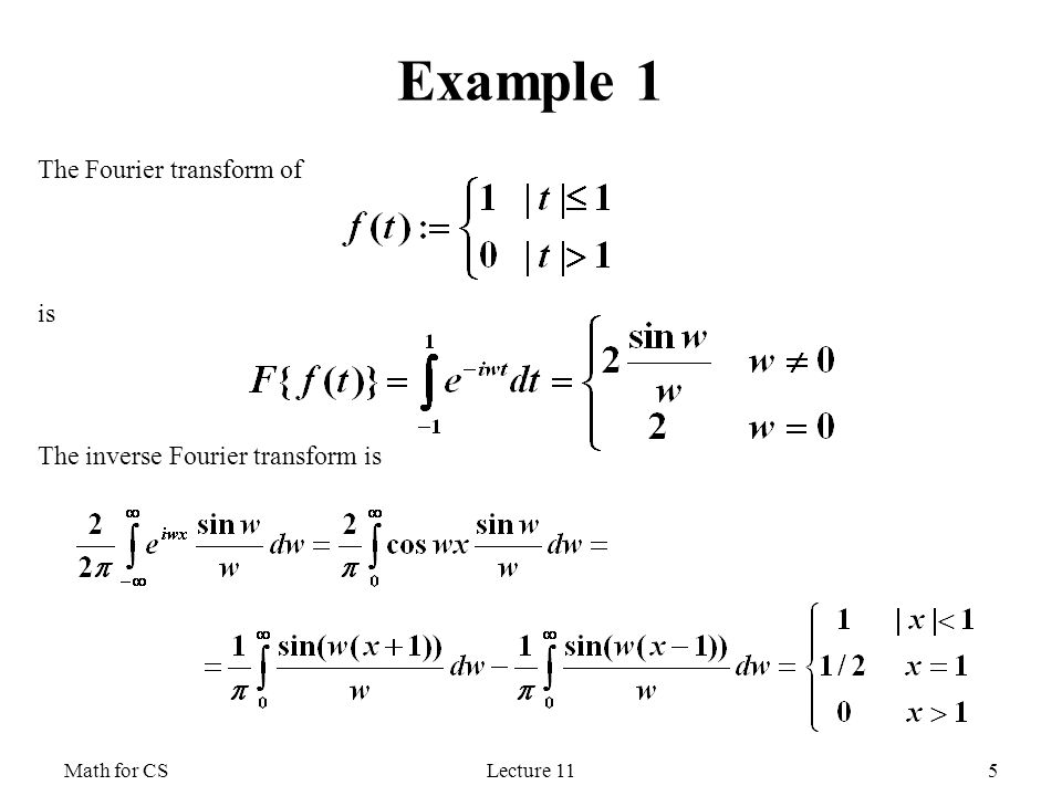Math For Cs Fourier Transform Ppt Video Online Download