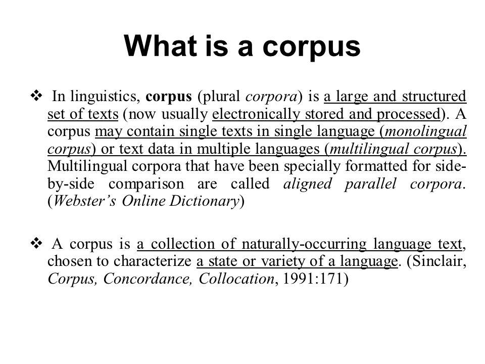Corpus linguistics an introduction.