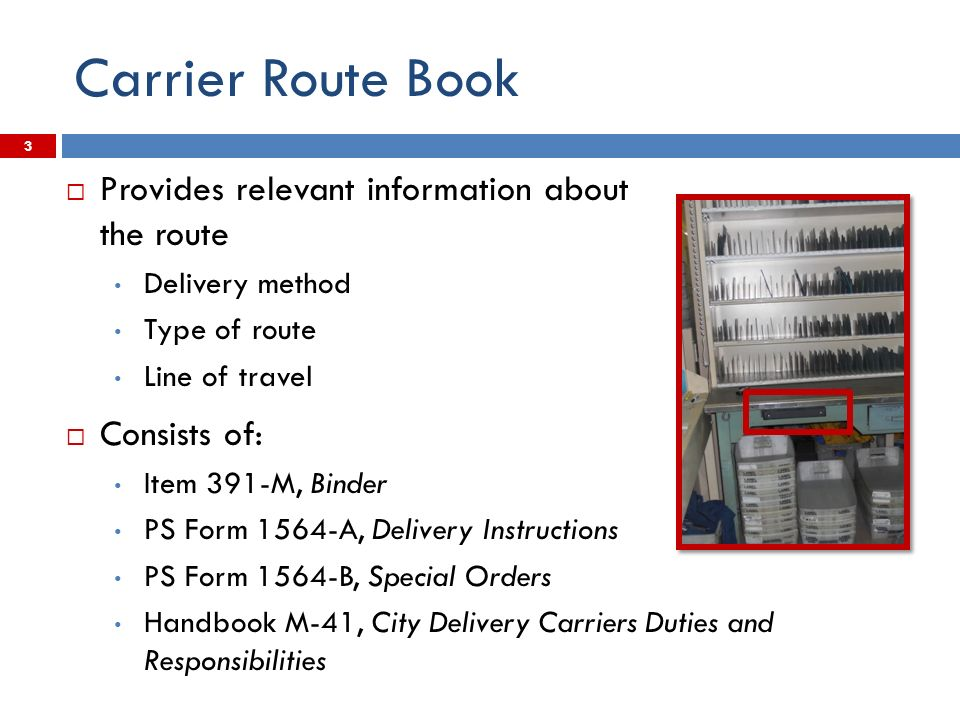 Carrier Route Book and Edit Book - ppt video online download