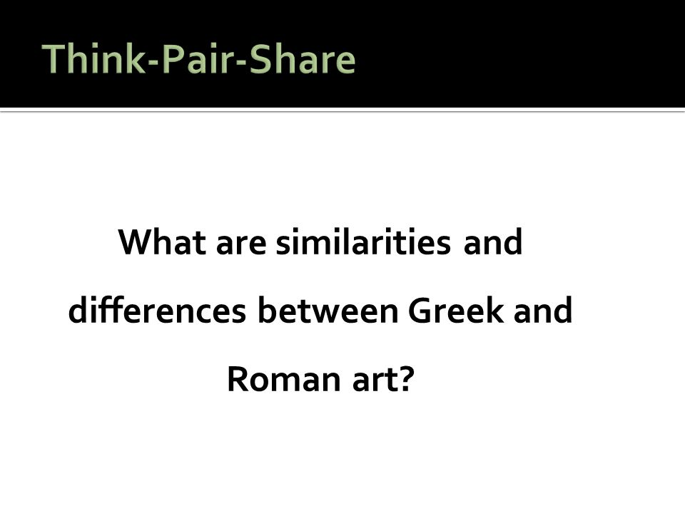 difference between greek and roman