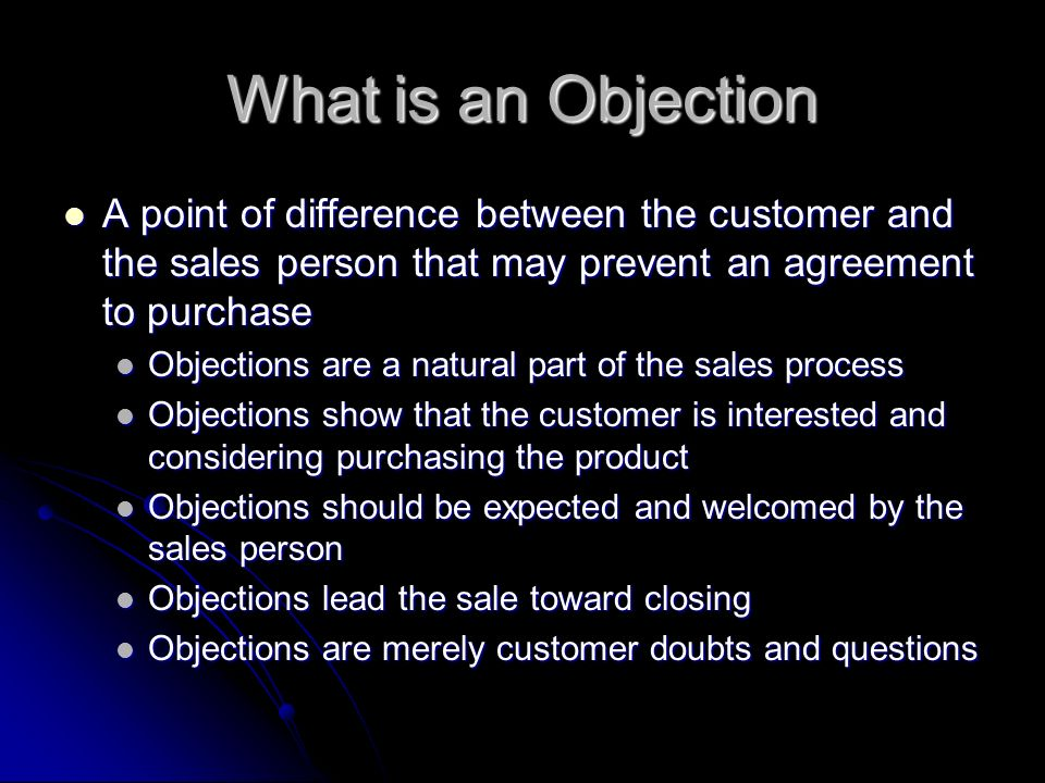 how to handle customer objections in sales