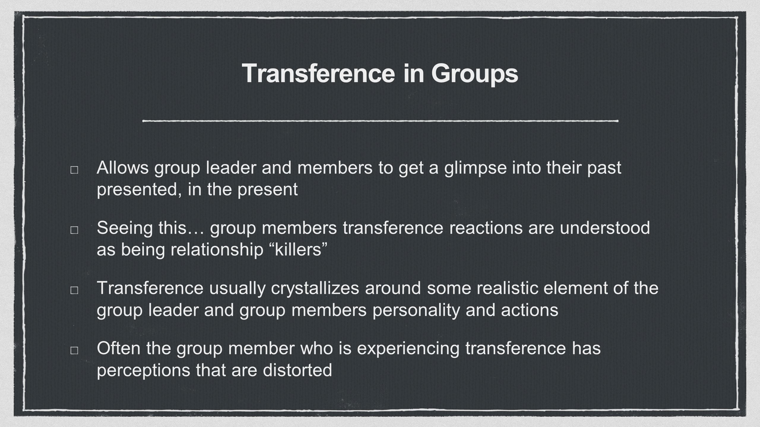 Transference In Groups  - ppt download
