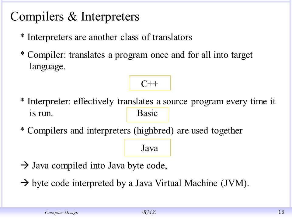 Compilers and interpreters ppt download.