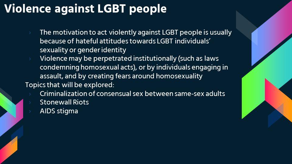 homosexuality topics