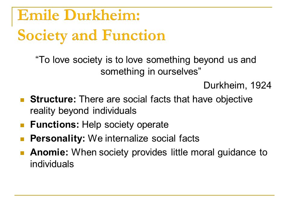 structure and function of society