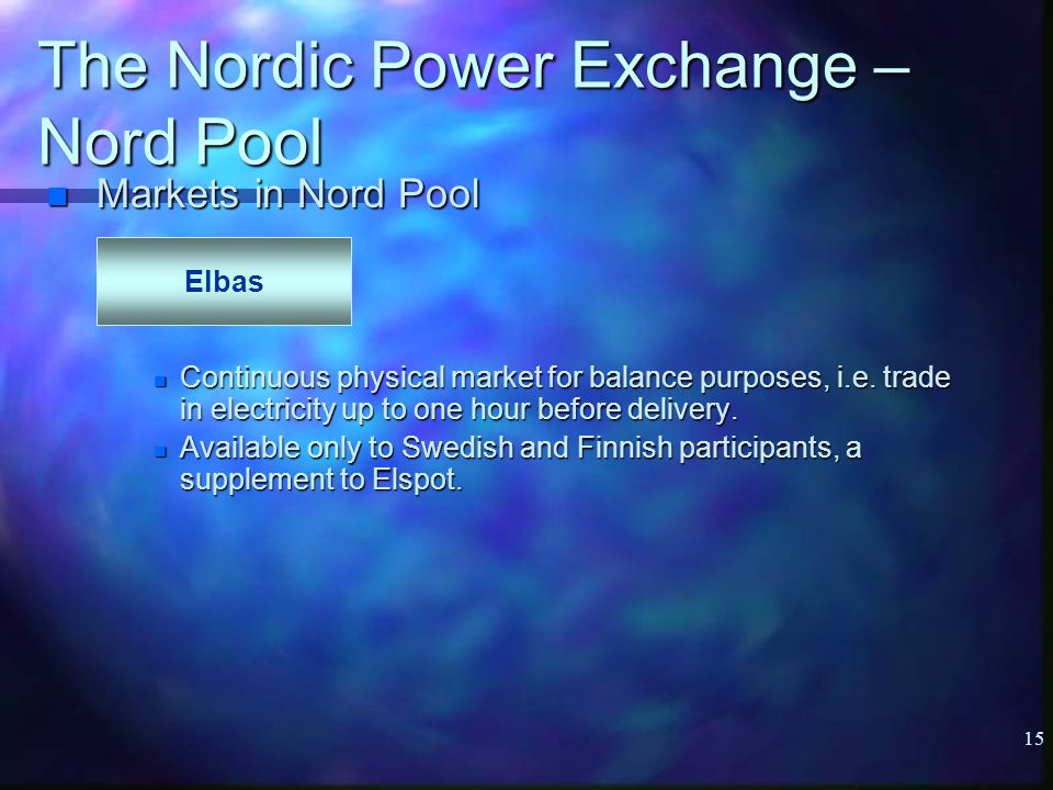 Electricity trading Power exchanges in Europe