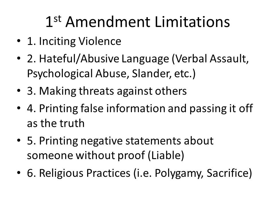 what is the purpose of the first ten amendments
