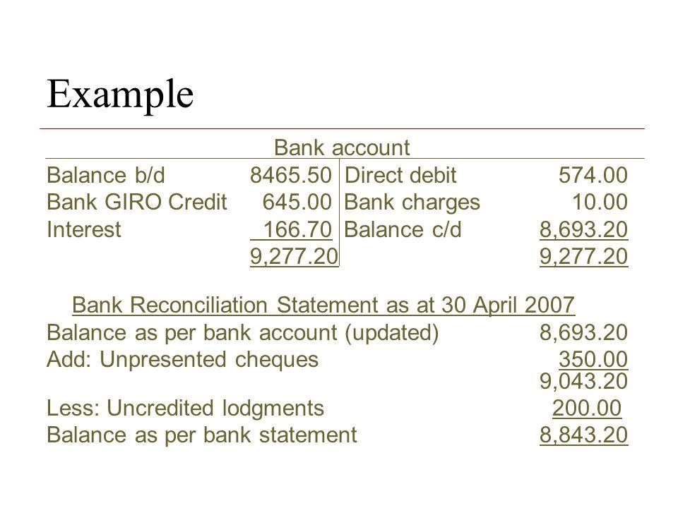 Bank Reconciliation Statement - ppt video online download
