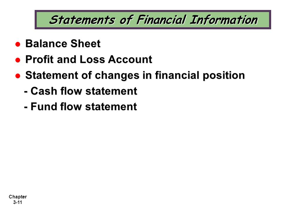 Statements of Financial Information