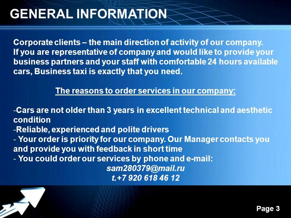 Business taxi by mr areltsov powerpoint templates ppt video 3 the toneelgroepblik Images