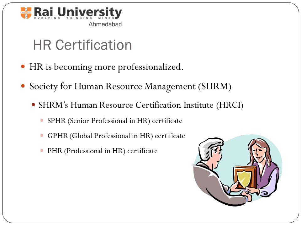 Nice Human Resource Certification Gift - Certificate Design