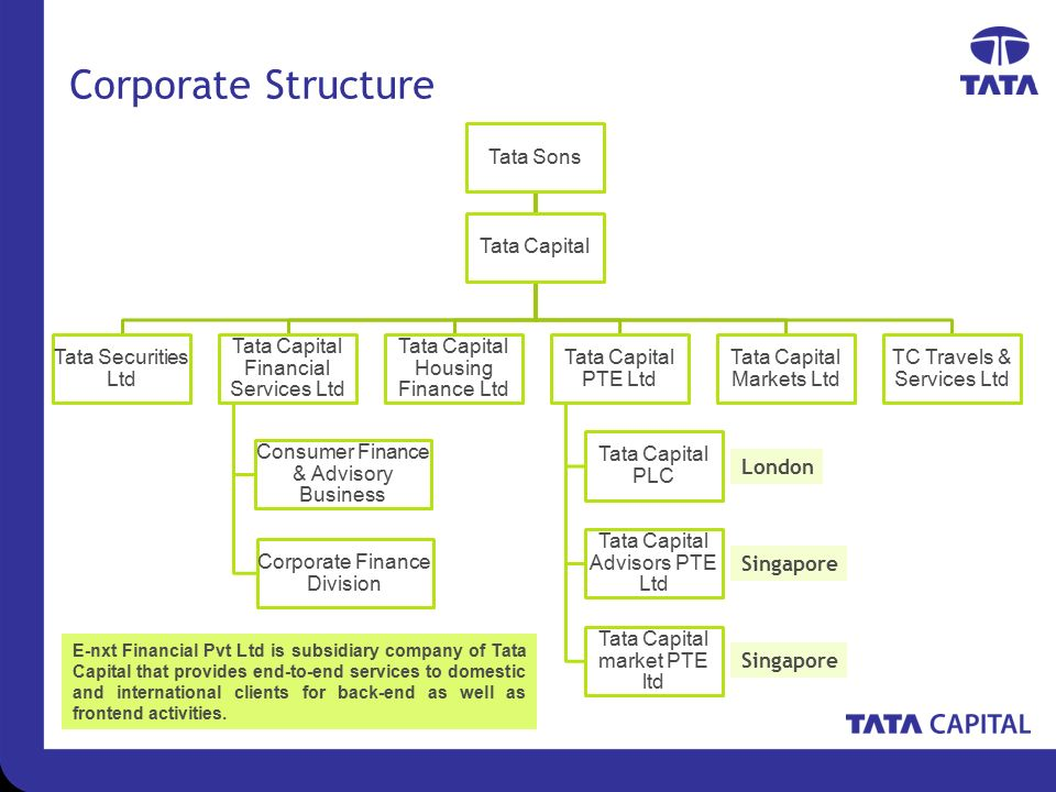 organisational structure of tata