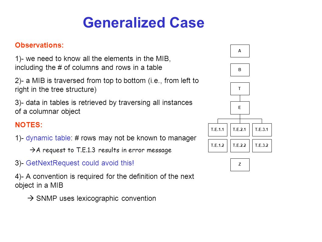 Generalized Case Observations: