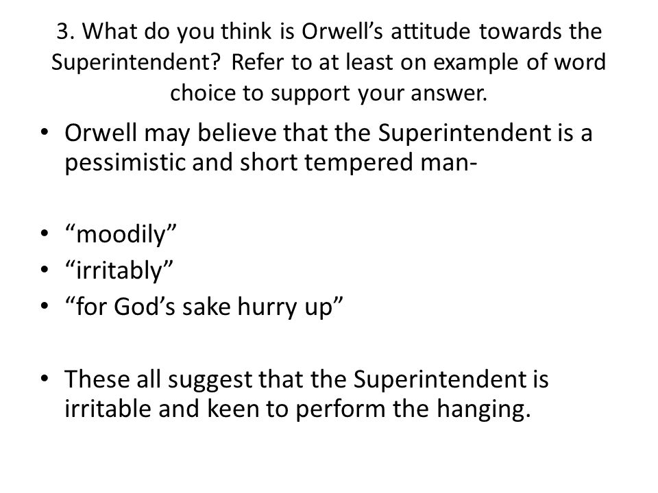 a hanging by george orwell comprehension and discussion questions
