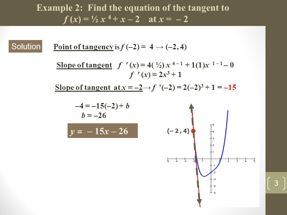 Unit 2 Lesson #3 Tangent Line Problems - ppt video online download