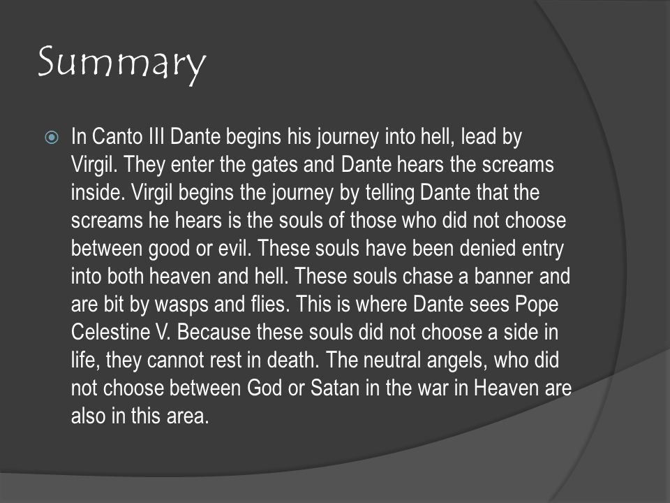dantes inferno summary by canto