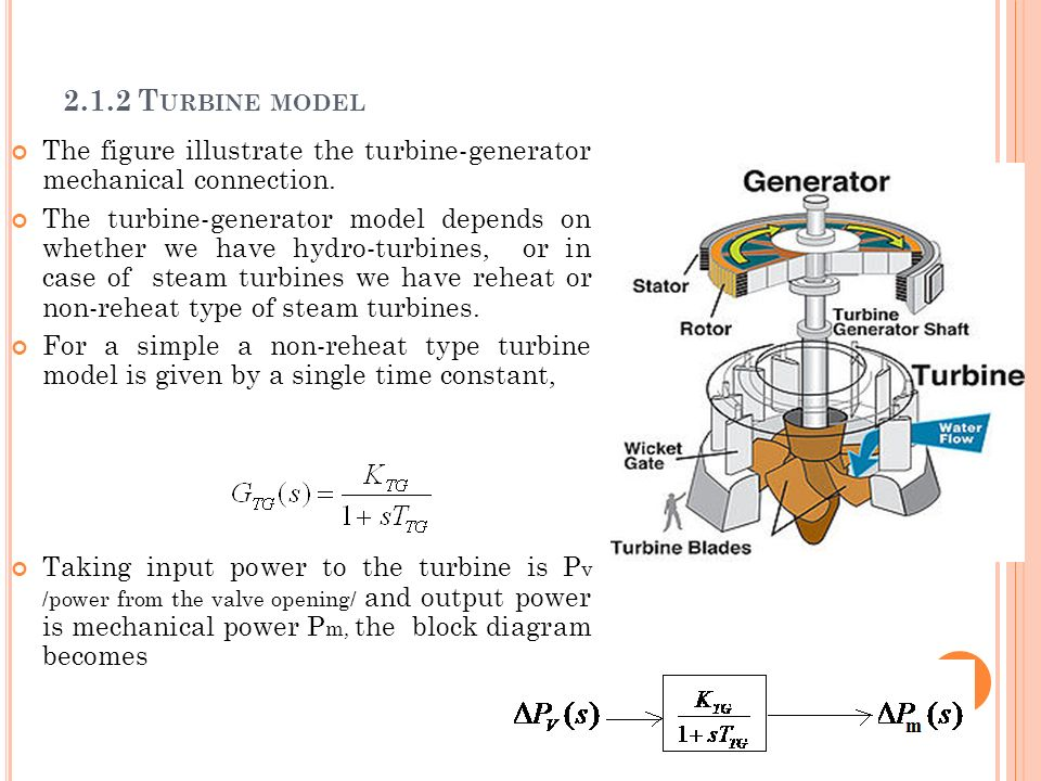2.1.2 Turbine model The figure illustrate the turbine-generator mechanical connection.