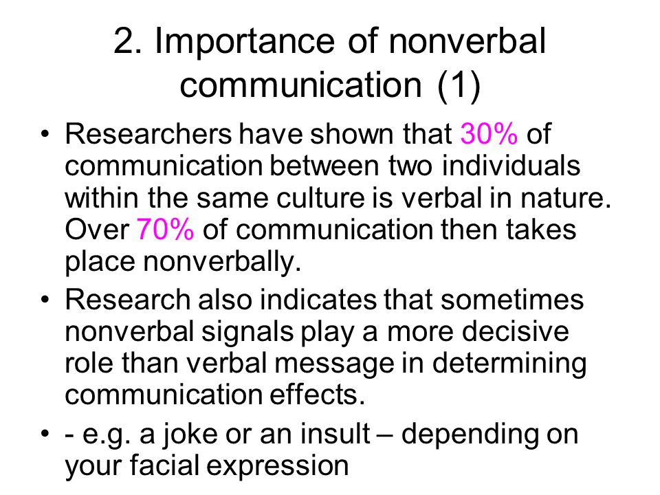the importance of nonverbal communication