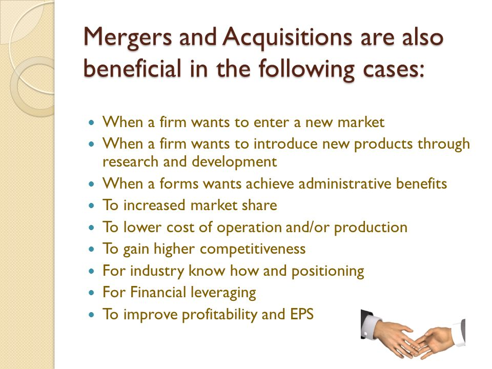 advantages of mergers and takeovers